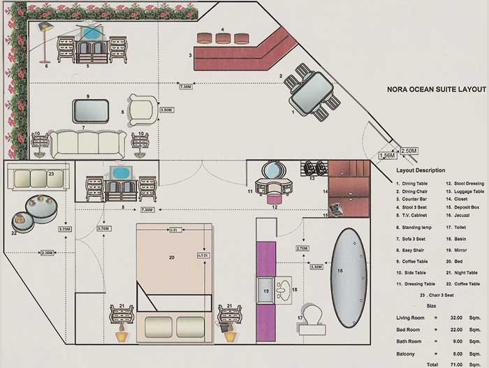 Nora Tropical Suite plan